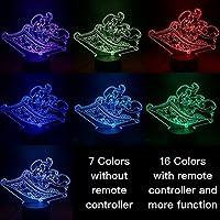 優しい照明アラジンジャスミンデコレーションキッズLEDベスト3DテーブルランプUSBキッズカップル