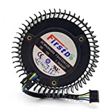 Fan cool FD6525H12D 65mm 12V 1.3A 4 Pin Video Card Cooler Fan For AMD Radeon R9 270 270X Graphics Card Cooling Fan