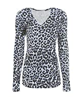 leopard printed V Neck T-Shirt. Slim Fit and Classy Look V-Neck Long sleeve T-Shirt Ideal for all occassions Soft, Stretchy and Comfortable Material
