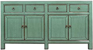 Yajutang - Aparador (4 Puertas 4 cajones) Color Verde Menta