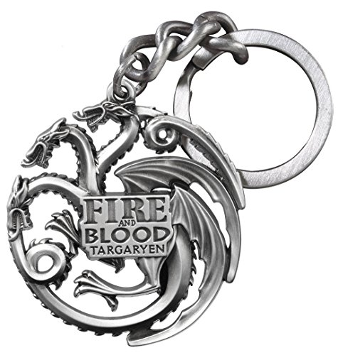 jzmfashions Game Of Thrones Inspired Necklace forte dire Wolf Silver Color Necklace Pendant e Base metallo, colore: stile 3, cod. GOT-006-FIREBLOOD-KEYCHAIN V.BAG