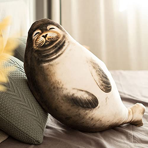 huobeibei Seal Plush Toys Pillow Ocean Animals Dolls Sofa backrest Kids Toy Birthday 70cm