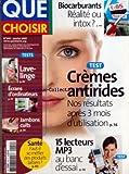 QUE CHOISIR [No 444] du 01/01/2007 - BIOCARBURANTS - CREMES ANTIRIDES - 15 LECTEURS MP3 - LAVE-LINGE - ECRANS D'ORDINATEURS - JAMBONS CUITS