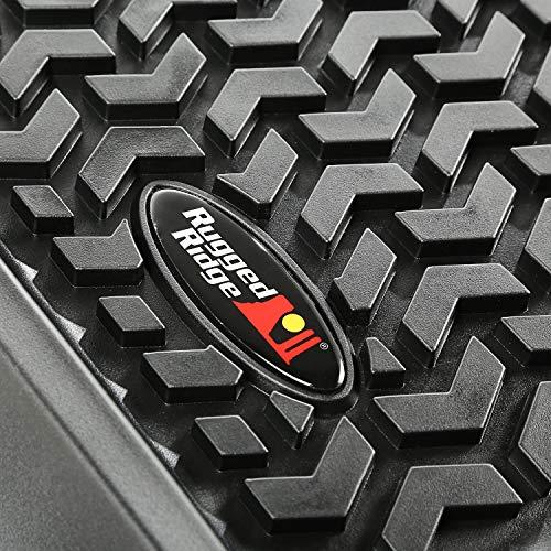 Rugged Ridge 12988.04 Floor Liner, Front/Rear/Cargo; Black, 2011-2018 Jeep Wrangler Unlimited JK 4 Dr