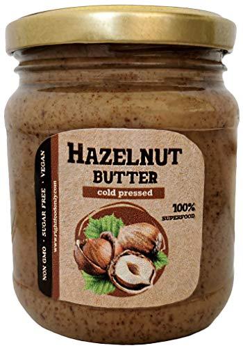 Haselnussbutter Urbech RAW 230 g (8 oz) - Gesunder Veganer Aufstrich - Protein 13 g - GVO-frei - Keto - ohne Zuckerzusatz - Ohne Öl - Kohlenhydratarm - 100% Superfood