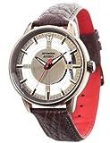 DeTomaso Avisio - Reloj de Cuarzo para Hombre, Correa de Piel Color marrón, Esfera Oro