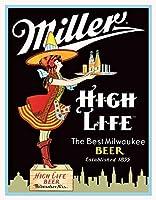 Miller High Life Serverティンサイン