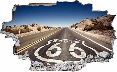 Route 66 Road Straße USA Wandtattoo Wandsticker Wandaufkleber C0432 Größe 70 cm x 110 cm