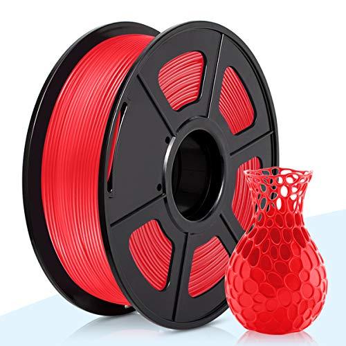 3D Warhorse PLA Filament Red, PLA Filament 1.75mm,PLA 3D Printer Filament, Dimensional Accuracy +/- 0.02 mm, 2.2 LBS(1KG),1.75mm Filament