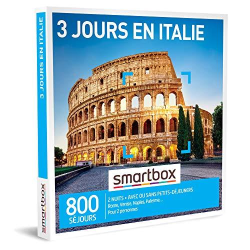 SMARTBOX - Coffret Cadeau Couple - Idée cadeau original : Séjour de 3 jours en Italie à deux pour une expérience inoubliable