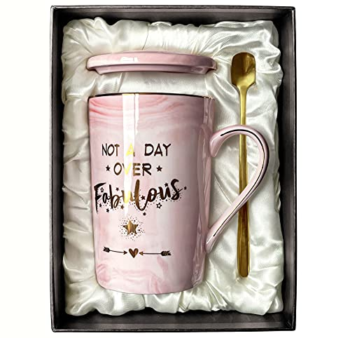 Birthday Gifts for Women Not A Day Over Fabulous Mug Funny Gifts Ideas for Her, BFF, Best Friends,...