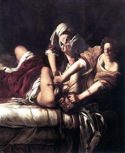 """Artemisia Gentileschi Judith Beheading Holofernes - 20"""" x 25"""" Premium Canvas Print"""