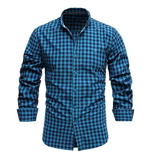 N\P Camiseta de manga corta para hombre, corte entallado, informal, de negocios, para hombre