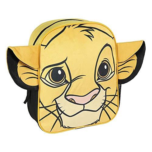 Cerdá  Mochila Infantil Rey Leon de Simba con Aplicaciones de Color Amarillo Licencia