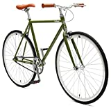 Critical Cycles 2852 Harper Single-Speed Fixed Gear Urban Commuter Bike; 57cm, Sage Green