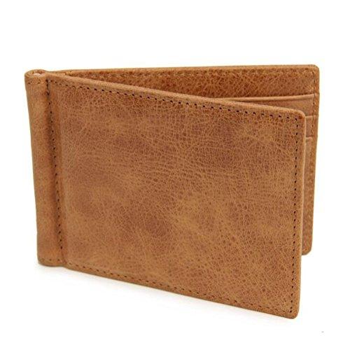 AprinCtempsD RFID Clip de Dinero Cuero Genuino Pinza para Billetes Billeteras Slim...
