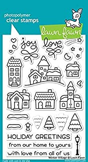 Lawn Fawn Clear Stamp Set Winter Village