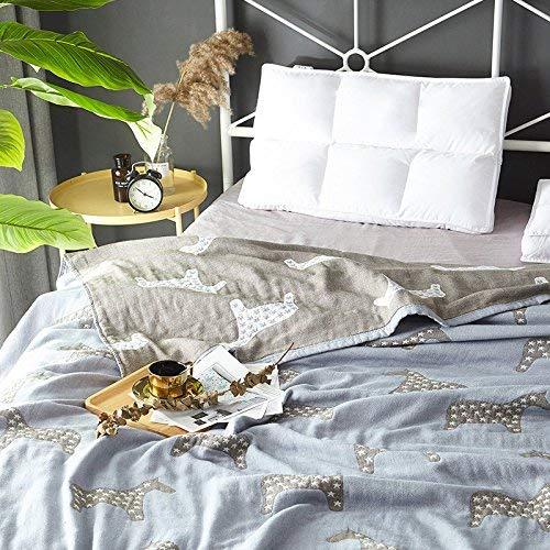 Crystallly katoen een handdoek deken in de zomer airconditioning plafond bed eenvoudige stijl deken 150 cm x 200 cm, D Simplicity Classic Mode Style