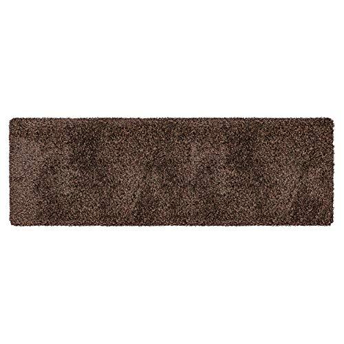 Magic Mat 50x150cm, Braun • Ultra Saugstarke, Waschbare und rutschfeste Fußmatte aus Mikrofaser • Sehr dünn, passt unter Fast Jede Türe
