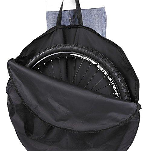 Alomejor Bolsa de Rueda de Bicicleta Ciclismo Rueda de Nylon Suave Bolsa de Transporte Portabicicletas Bolsa de Rueda Negro para Bicicleta de montaña Bicicleta de Carretera(for 27.5in Wheel)
