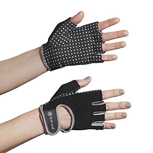 Gaiam Performance Yoga Gloves, Black