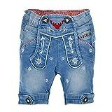 BONDI Trachten Jeans Bermuda Lausbub mit Edelweiß 91386 | Blau Gr. 68