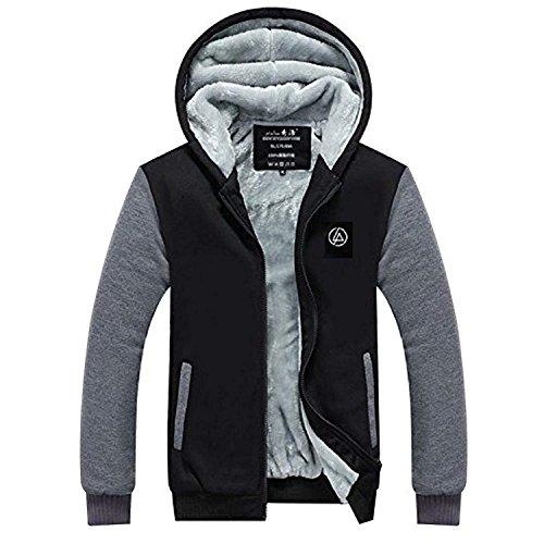 LP Rock Band Hoodie Jacke Erwachsene Jugendliche Winter Plus Samt Dicke Zipper Sweatshirt Kapuzenpullover Kleidung Cosplay Kostüm
