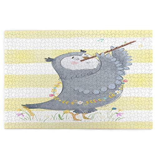 Airmark Rompecabezas de 1000 Piezas,Rompecabezas de imágenes,Linda Corona Floral de Flauta de búho en,Juguetes Puzzle for Adultos...