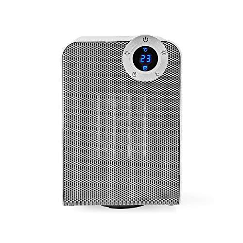 NEDIS Calentador SmartLife Calefactor de Aire Wi-Fi Inteligente - Compacto - Termostato - Oscilación - 1800 W - Blanco Blanco 0.17 m