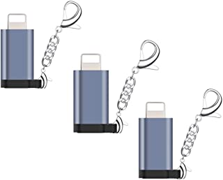 【3個セット】IKheriy Micro USB & Lightning変換アダプタ ライトニング 変換 Lightning MicroUSB 変換 急速充電とデータ伝送 micro USB to iPhone 変換コネクタ IOS対応(グレー)
