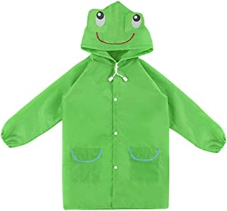 Traderplus Cartoon Animal Style Waterproof Kids Raincoat for Children Rain Coat Rainwear