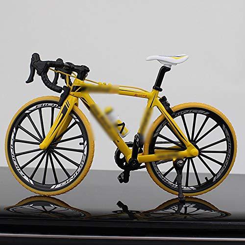 Kreative Alloy Model Simulation Fahrrad Dekoration Mini Fahrrad Spielzeug Downhill Mountainbike-Modell-Dekoration Kollektion Kinder Geburtstags-Geschenk x (Color : Yellow)