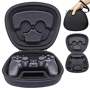 Sisma Game Controller Holder Case for PS4 Official DualShock 4 Wireless Controller, Heavy Duty Protective Cover Hard Shell Pouch Fit – Black