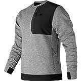 New Balance 247 Luxe Crew Shirt - Men's Athletic Grey, XL