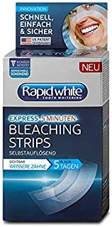Rapid White Express Bleaching Strips for teeth whitening / Rapid White Express Blanqueamiento Tiras para blanquear los dientes 14 piezas Made in Germany