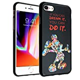 iPhone SE, iPhone 8, 7 Mickey Quotes Case, IMAGITOUCH Mickey Case Anti-Scratch Shock Proof Soft Touch Slim Fit Flexible TPU Case Bumper Cover for iPhone 8, 7, SE- You can Do It