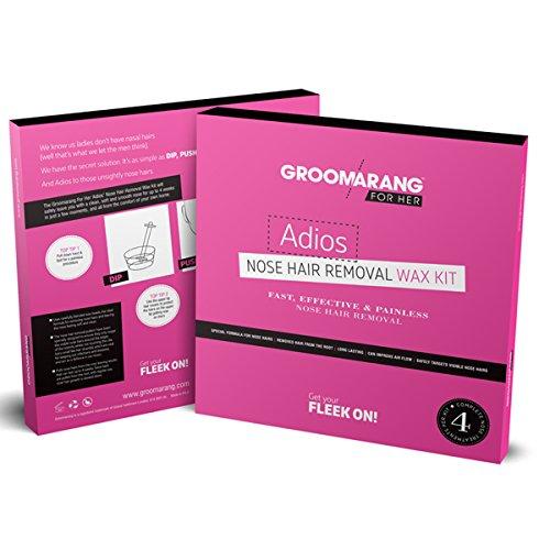 Groomarang für Sie Adios Nasenhaarentfernungswachs Kit schnell effektiv & schmerzfrei