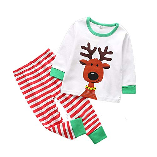 Image of Age 1-6 Reindeer Christmas Pajamas for Boys