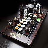 C&J CJ Juegos de té Kung Fu Chino Juego de té, Juego de té automático, Bandeja de té Inicio Set Purple Arena, Una Ceremonia del té Bandeja, Mar del té, for el hogar o la Oficina (Color : I)