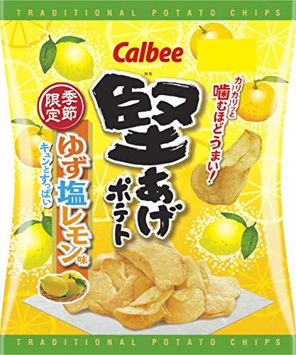 カルビー 堅あげポテト ゆず塩レモン味 58g ×12袋