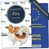 EU-Heimtierausweis Hülle Taksa Tierausweis Schutzhülle schöne Geschenkidee personalisierbar mit Namen und Geburtsdatum (Chihuahua, EU-Heimtierausweishülle personalisiert)