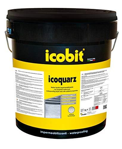ICOBIT Icoquarz - Impermeabilizzante antiscivolo, Rosso