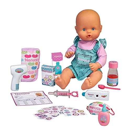 Nenuco- ¿Estás malito?, muñeco bebé con accesorios para ver si está enfermo (Famosa 700016658)
