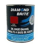 Diamond Brite Paint 31250 1 Quart Oil Base All Purpose Enamel Paint   Tile Red
