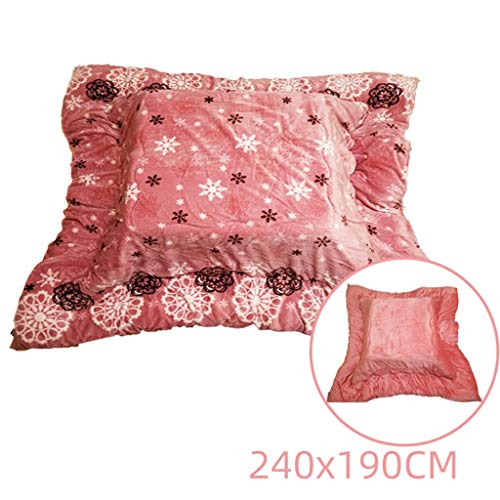 Coffee Tables Pink Folding Heating Table Bay Window Low Table Indoor Heating Table Tatami Warm Table Under The Blanket (Color : Pink, Size : Quilt 240180cm)