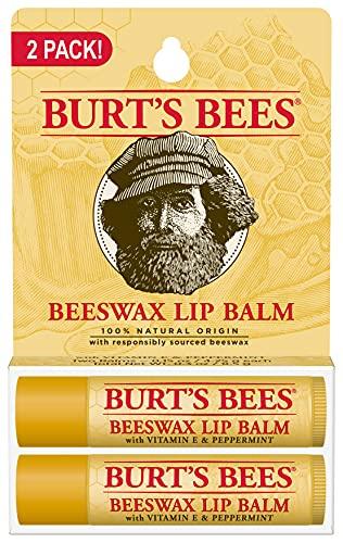 Burts Bees 100% Natural Origin Moisturizing Lip Balm, Beeswax, 2 Tubes in Blister Box (10792850776996)