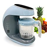 Baby Food Maker Chopper Grinder - Mills and Steamer 7 in 1 Processor - Steam, Blend, Chop, Disinfect, Clean, 20 Oz Tritan Stirring Cup, Touch Control Panel, Auto Shut-Off, 110V Only