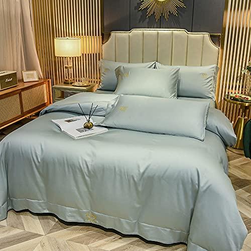 juego de funda nórdica 260x240-Verano norte de europeo feng shui tiangu una sola cama doble lotero diario king doble boceto almohada caja de cama regalo-Esconder_1,8 m de cama (4 piezas)