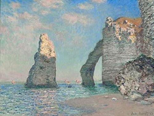 The Cliffs at Etretat Poster Print by Claude Monet (22 x 28)