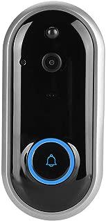 720P / 1080P Timbre inalámbrico, Timbre de WiFi Inteligente Intercomunicador de Seguridad para el hogar, Portero automático Visible con cámara, 52 melodías + Lente Gran Angular de 155°(Black)